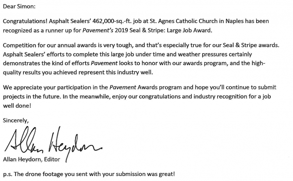 Runners up for the 2019 Seal and Stripe award.